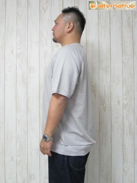 (大きいサイズ メンズ 通販 デビルーズ)alternative 「GYM RAT20 ECOMOCK TWIST」半袖スウェットシャツ