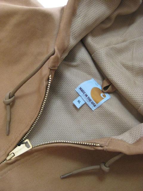 (大きいサイズ メンズ 通販 デビルーズ)Carhartt(カーハート)ダック アクティブ フードジャケット