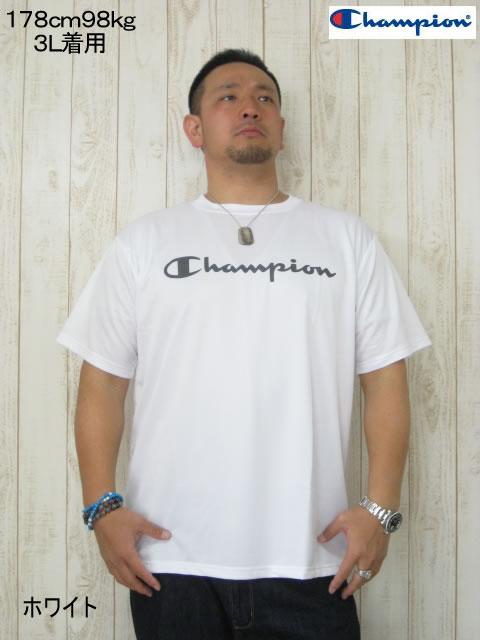 (大きいサイズ メンズ 通販 デビルーズ)Champion(チャンピオン)「CHAMPION」ドライTEE