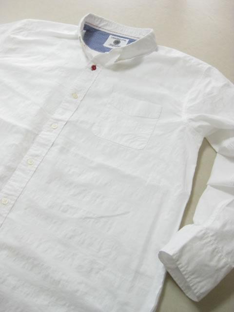 (大きいサイズ メンズ 通販 デビルーズ)CREATION CUBE パナマ チェック織り長袖ボタンダウンシャツ