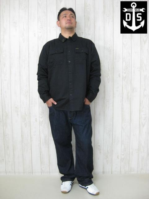 (大きいサイズ メンズ 通販 デビルーズ)DARKSEAS(ダークシーズ)「BIRD FARM」長袖ワークシャツ