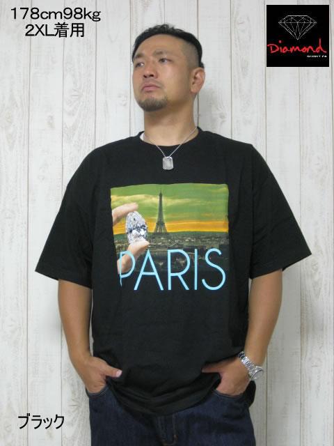 (大きいサイズ メンズ 通販 デビルーズ)Diamond(ダイアモンド)「PARIS LIFE」TEE