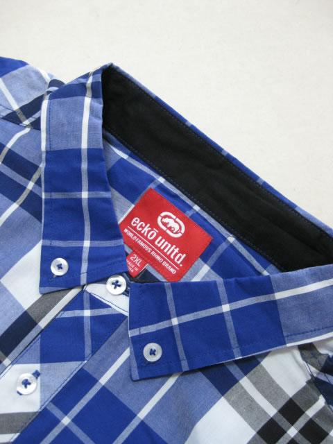 (大きいサイズ メンズ 通販 デビルーズ)ECKOUNLTD(エコーアンリミテッド)「CHECK」長袖シャツ