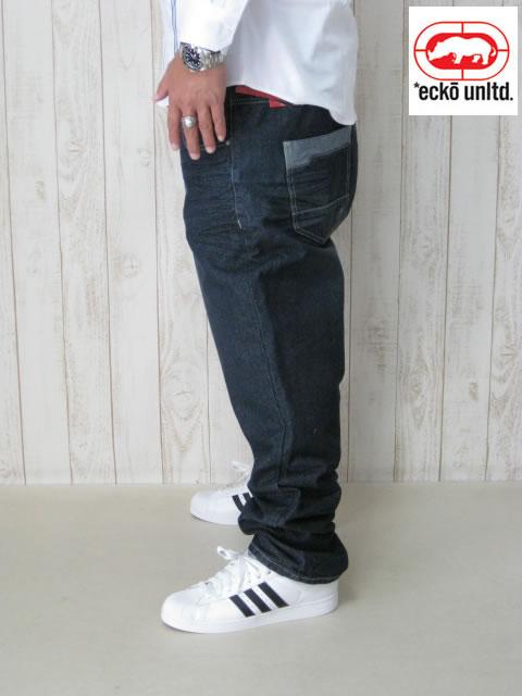 (大きいサイズ メンズ 通販 デビルーズ)ECKO UNLTD(エコーアンリミテッド)「RELAXED」フィットジーンズ
