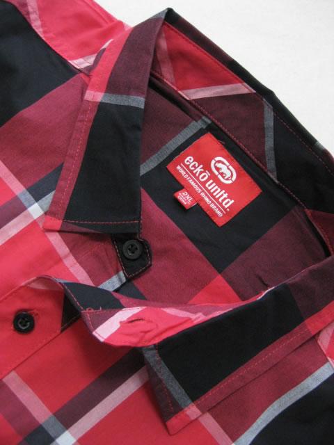 (大きいサイズ メンズ 通販 デビルーズ)ECKO UNLTD(エコーアンリミテッド)「PLAID WOVEN」半袖シャツ