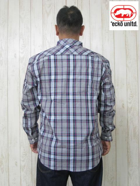 (大きいサイズ メンズ 通販 デビルーズ)ECKO UNLTD(エコーアンリミテッド)「STONE STREET」長袖シャツ