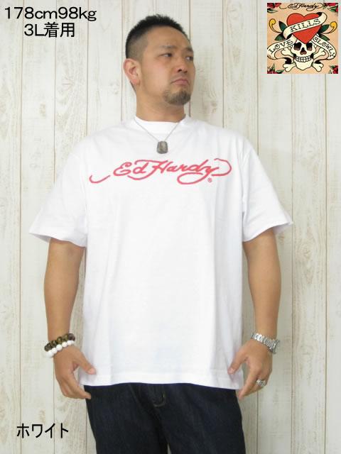 (大きいサイズ メンズ 通販 デビルーズ)EDHARDY(エドハーディー)「LOS ANGELES」TEE