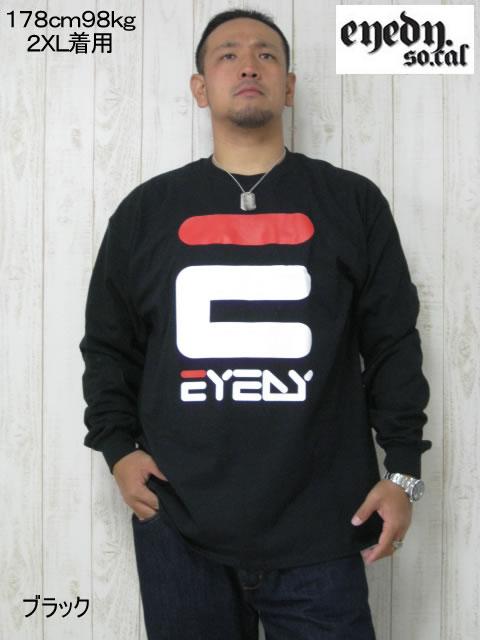 (大きいサイズ メンズ 通販 デビルーズ)EYEDY(アイディ)「E」ロンTEE