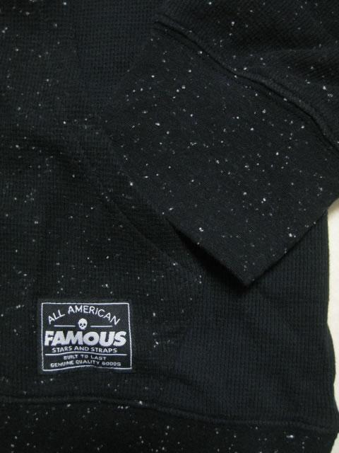 (大きいサイズ)FAMOUS(フェイマス)「BIG FAM」フード付 サーマルロンTEE