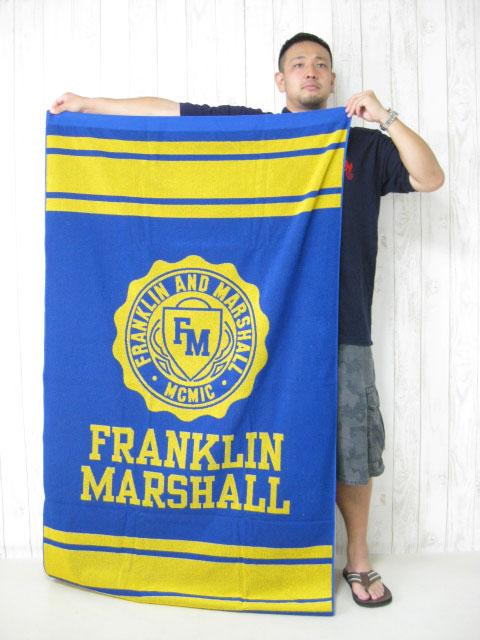 (大きいサイズ)FRANKRIN&MASHALL(フランクリンアンドマーシャル)「FLOWER」ビーチタオル