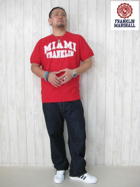 (大きいサイズ メンズ 通販 デビルーズ)FRANKLIN&MARSHALL(フランクリンアンドマーシャル)「MIAMI」スウェットTEE