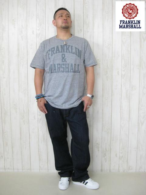 (大きいサイズ メンズ 通販 デビルーズ)FRANKLIN&MARSHALL(フランクリンアンドマーシャル)「STANDARD」TEE