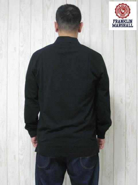 (大きいサイズ メンズ 通販 デビルーズ)FRANKLIN&MARSHALL「FM」長袖ポロシャツ