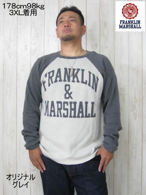 (大きいサイズ メンズ 通販 デビルーズ)FRANKLIN&MARSHALL「FM」セーター