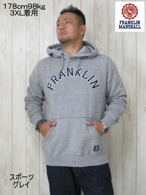 (大きいサイズ メンズ 通販 デビルーズ)FRANKLIN&MARSHALL 「FRANKLIN」HOODY