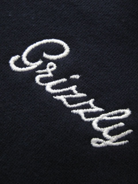 (大きいサイズ メンズ 通販 デビルーズ)GRIZZLY(グリズリー)「CURSIVE EMBROIDERY」スウェットシャツ