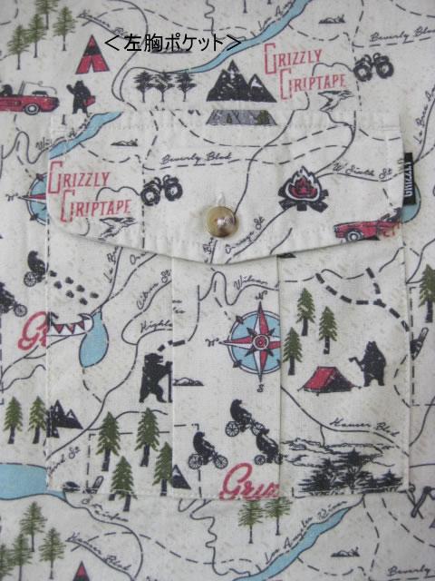 (大きいサイズ メンズ 通販 デビルーズ)GRIZZLY(グリズリー)「TRAIL MAP」長袖シャツ