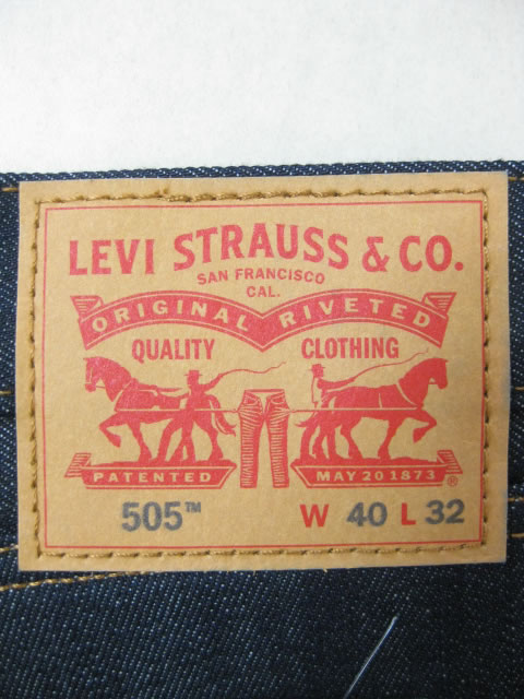 (大きいサイズ)LEVIS(リーバイス)505「未洗いデニム」