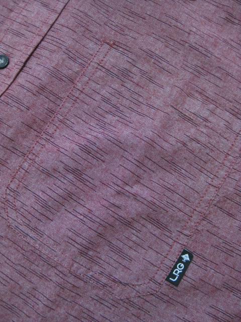 (大きいサイズ メンズ 通販 デビルーズ)LRG(エルアールジー)「DESMOND」シャンブレー長袖シャツ