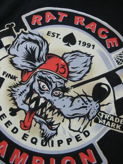 (大きいサイズ メンズ 通販 デビルーズ)LUCKY−15(ラッキーサーティーン)「RAT RACE」TEE