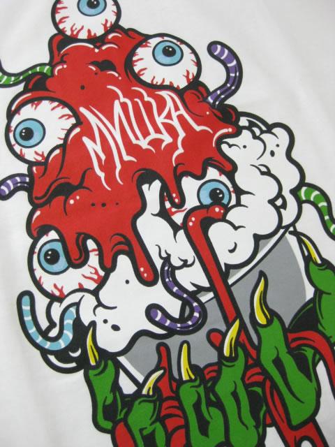 (大きいサイズ メンズ 通販 デビルーズ)MISHKA(ミシカ)「SOFT CREAM」TEE