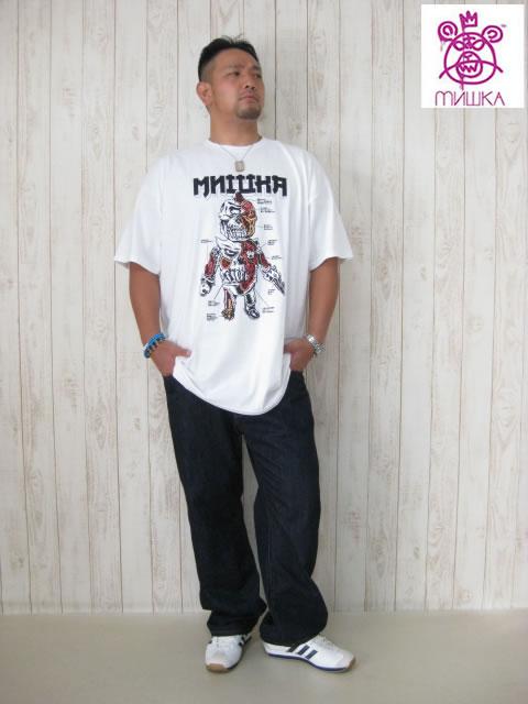 (大きいサイズ メンズ 通販 デビルーズ)MISHKA(ミシカ)「LAMOUR BOOTLEG ANATOMY」TEE