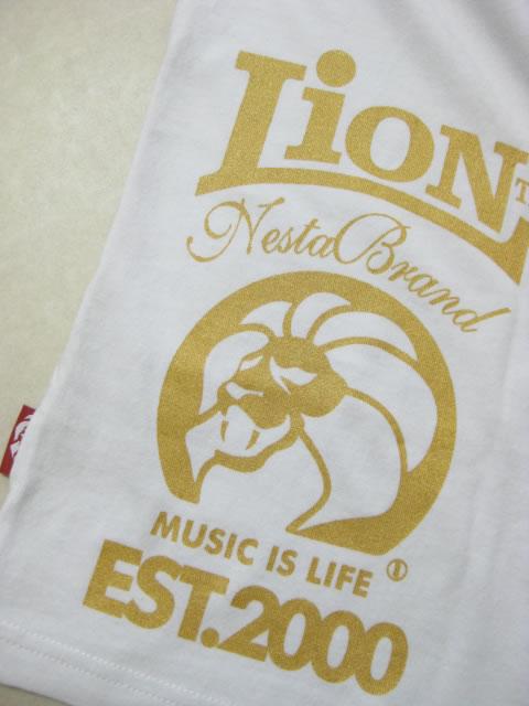 (大きいサイズ メンズ 通販 デビルーズ)NESTABRAND(ネスタブランド)「LION」ロンTEE