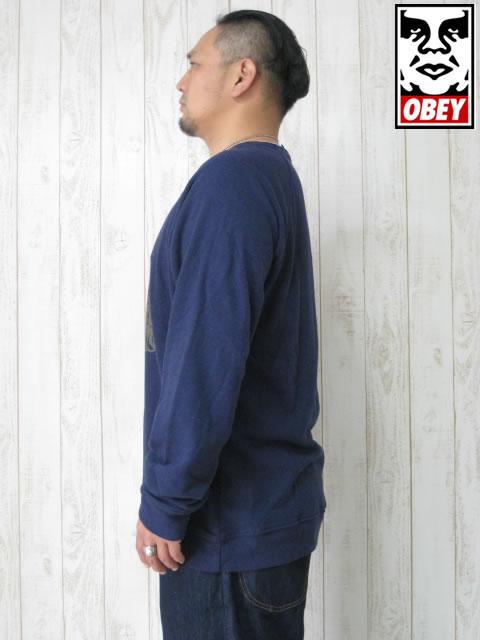 (大きいサイズ)OBEY(オベイ)「HAWK ATTACK」スウェットシャツ