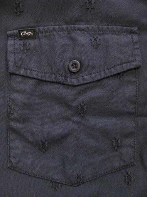 (大きいサイズ メンズ 通販 デビルーズ)OBEY(オベイ)「MORRIS」シャツジャケット
