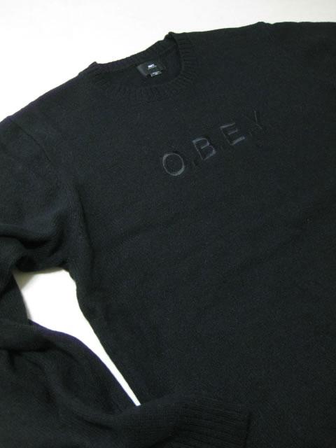 (大きいサイズ メンズ 通販 デビルーズ)OBEY(オベイ)「ELLWAY」セーター