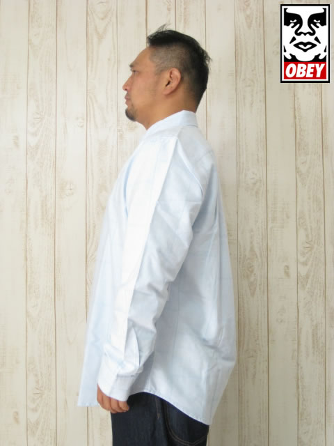 (大きいサイズ メンズ 通販 デビルーズ)OBEY(オベイ)「EIGHTY NINE PATCH」長袖シャツ