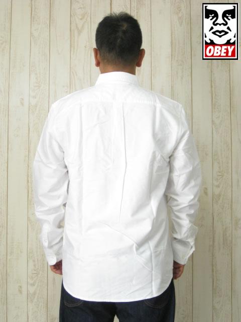 (大きいサイズ メンズ 通販 デビルーズ)OBEY(オベイ)「DISSENT TRAIT」長袖シャツ