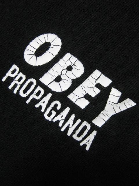 (大きいサイズ メンズ 通販 デビルーズ)OBEY(オベイ)「PROPAGANDA BARS」HOODY