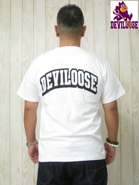 (大きいサイズ メンズ 通販 デビルーズ)デビルーズオリジナル「3C-DEVIL&LOGO」TEE