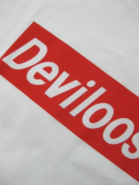 (大きいサイズ メンズ 通販 デビルーズ)デビルーズオリジナル「BOXLOGO&3C-DEVIL」TEE