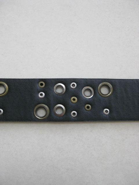 (大きいサイズ)P2(ピーツー)ロングサイズ ランダムアイレット ベルト