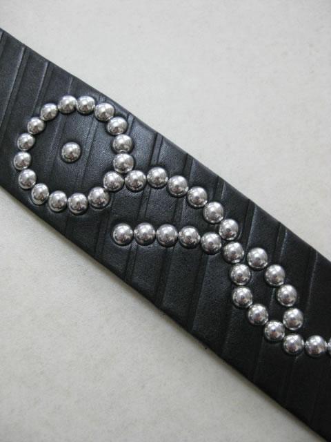 (大きいサイズ メンズ 通販 デビルーズ)P2(ピーツー)本革 ロングサイズ カシメベルト