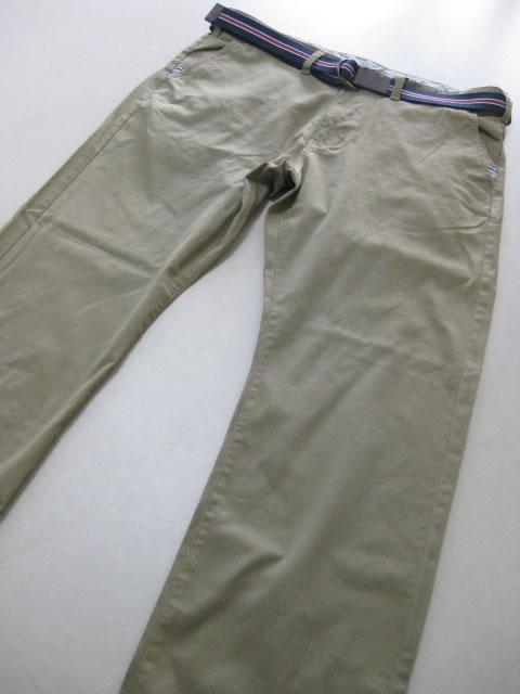 (大きいサイズ メンズ 通販 デビルーズ)PANASPUR(パナシュプール)ストレッチツイル ベルト付き ロールアップチノパン