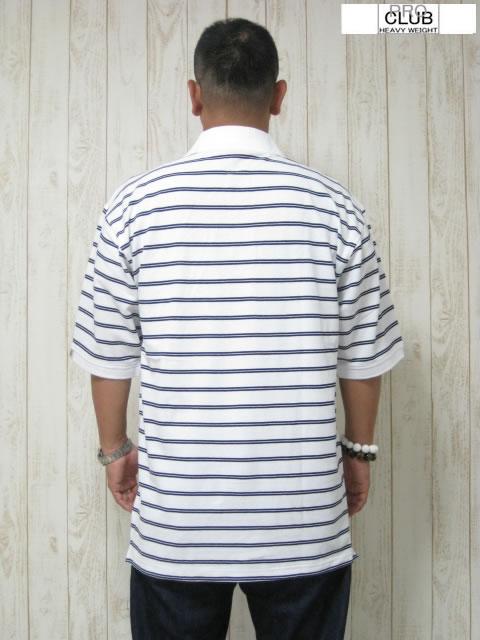 (大きいサイズ メンズ 通販 デビルーズ)PROCLUB(プロクラブ)「PC-STRIPE」半袖ポロシャツ
