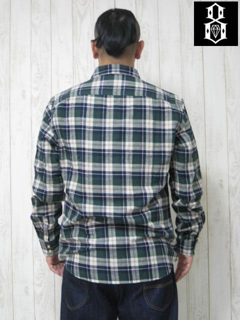 (大きいサイズ メンズ 通販 デビルーズ)REBEL8(レベルエイト)「WINTER」長袖ネルシャツ