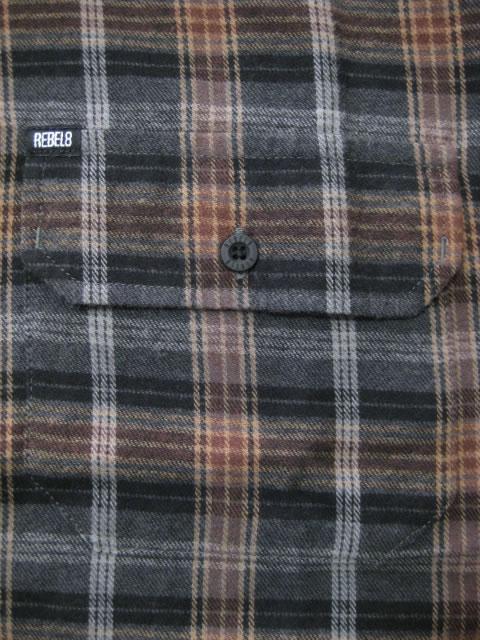 (大きいサイズ メンズ 通販 デビルーズ)REBEL8(レベルエイト)「HARSH REALM」長袖ネルシャツ