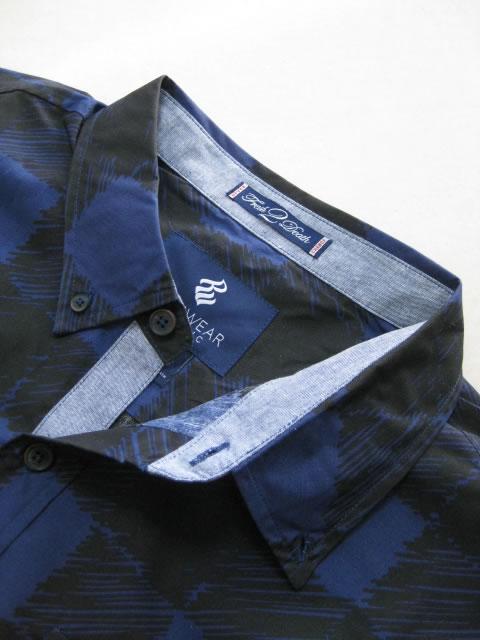 (大きいサイズ メンズ 通販 デビルーズ)ROCAWEAR(ロカウェア)USA「SKETCHY BUFFALO」長袖シャツ