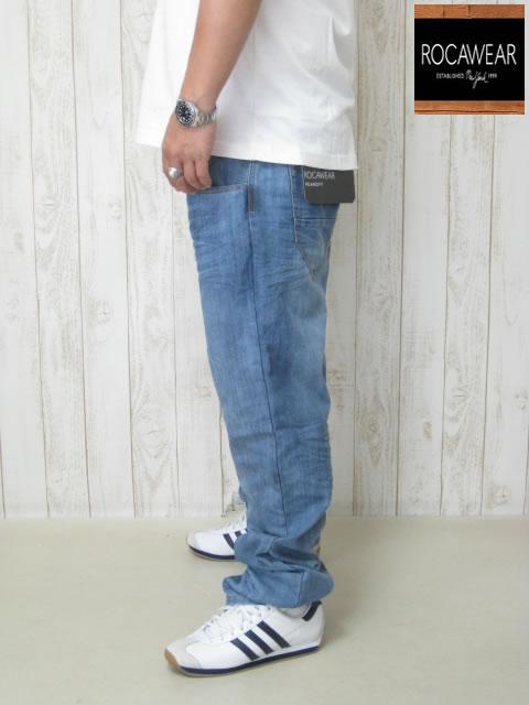 (大きいサイズ メンズ 通販 デビルーズ)ROCAWEAR(ロカウェア)EURO「ROC RELAX」ボタンフライ ジーンズ