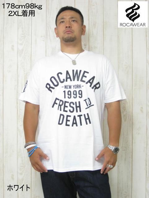 (大きいサイズ メンズ 通販 デビルーズ)ROCAWEAR(ロカウェア)USA「FRESH TO DEATH」TEE