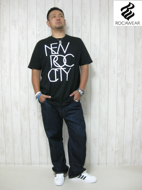 (大きいサイズ メンズ 通販 デビルーズ)ROCAWEAR(ロカウェア)USA「NEW ROC CITY」TEE