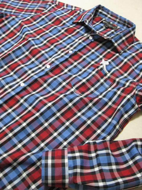 (大きいサイズ メンズ 通販 デビルーズ)ROCAWEAR(ロカウェア)JAPAN「MADRAS PLAID」長袖シャツ