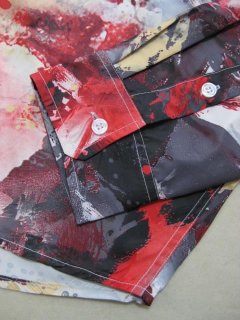 (大きいサイズ メンズ 通販 デビルーズ)ROCAWEAR(ロカウェア)JAPAN「ART PRINT」長袖シャツ