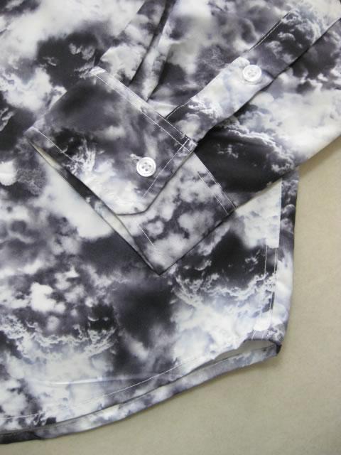 (大きいサイズ メンズ 通販 デビルーズ)ROCAWEAR(ロカウェア)JAPAN「CLOUD PRINT」長袖シャツ