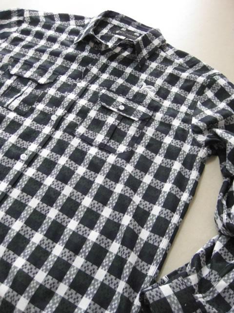 (大きいサイズ メンズ 通販 デビルーズ)ROCAWEAR(ロカウェア)JAPAN「JAQUARD PLAID」長袖シャツ