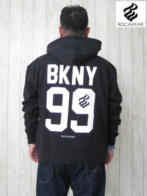 (大きいサイズ メンズ 通販 デビルーズ)ROCAWEAR(ロカウェア)JAPAN「BKNY 99」フルZIP HOODY